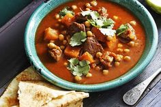 A hearty soup that combines the family favourite, lamb, with the winter favourite, pumpkin soup.