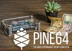 "PINE64 Single Board PC Raised Over $200,000 Via Kickstarter In First 48hrs (video) - ""PINE A64 is not only a computer, it is a super affordable 64-bit high performance expandable single board computer (SBC). Whether you are an IT professional, electronics hobbyist, student, teacher, hacker, inventor, or just someone who wants to have more flexibility to increase their productivity at work, the PINE A64 is a computer board made for everyone."" 