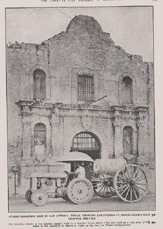 1926 – Street cleaner in front of The Alamo – mi sitio The Alamo, San Antonio, Texas Revolution, Republic Of Texas, Texas Forever, Loving Texas, San Jacinto, Texas History, Le Far West