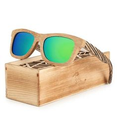 Polarized Square Wood Frame Sunglasses In Wooden Gift Box-Green,Blue,Yellow,Gray Wooden Sunglasses, Mirrored Sunglasses, Mens Sunglasses, Wooden Gift Boxes, Wooden Gifts, Blue Yellow Grey, Laptops For Sale, Winter Hats For Men, Green Gifts