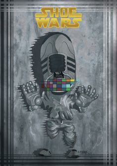sneakerhead-illustrations-8. Star Wars. Mancave art.