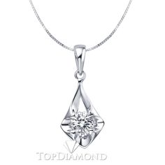 P1615. 18K White Gold Diamond Pendant Setting P1615, Diamond Pendants. Necklaces & Pendants. Topt Diamonds & Jewelry