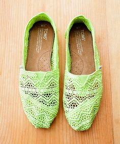 Another great find on #zulily! Neon Lime Crochet Classics by TOMS #zulilyfinds