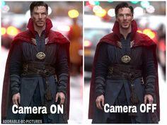 Benedict Cumberbatch when filming Doctor Strange. lol.