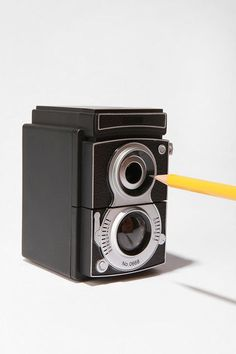 Camera Pencil Sharpener - $12.00 » I like to use old-school pencils at home, and this vintage camera sharpener would be a cute way to keep them sharp and ready to use.