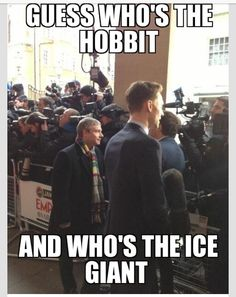 I'm glad Martin Freeman is a hobbit in real life and Benedict Cumberbatch is Smaug in real life.