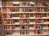 COURTESY OF DAN HESS - The discarding of books has left the Albany Library with half-empty shelves. Pin now, read later; East Bay, Read Later, Library Books, Weeding, Empty, Dan, Shelves, School, Grass