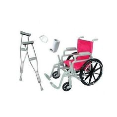 Doll Wheelchair Crutches Casts Bandage Doctor 18 Inch Fits American Girl Dolls