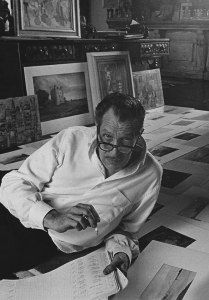 Vincent Price always found such joy in art. He loved finding and studying beautiful pieces of art. This is a photo of him organizing the lists of pieces that he had purchased for the Vincent Price Collection at Sears during the Vincent Price, Olivia De Havilland, Stanley Kubrick, Vintage Hollywood, Classic Hollywood, Celebrities Reading, Horror Icons, Classic Horror Movies, Classic Monsters