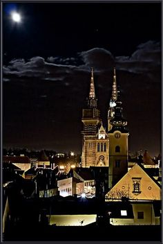 Zagreb at night, Croatia. it is worth visiting