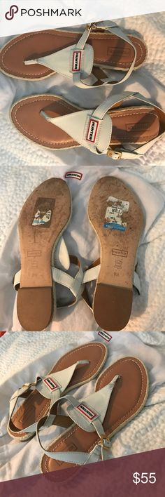 Hunter sandals Worn just a couple of times. They were too big for me. Great sandals!!! Shoe bag included. Hunter Shoes Sandals