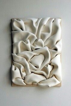 Folded Clay Wall Sculpture