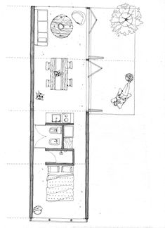 Detail Architecture, Architecture Drawings, Architecture Plan, Sustainable Architecture, Contemporary Architecture, Small Floor Plans, Small House Plans, House Floor Plans, Cabin Design