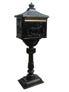 NACH jh-05B Aluminum Equestrain Design Standing Mailbox with Key, Black by NACH. $344.69. Aluminum standing mailbox. 100% water resistant. Powder-coated paint for maximum rust protection. This elegent standing mailbox is made from aluminum; it will endure all weather conditions for years to come.
