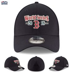 cheap for discount d67e9 4b889 Details about Boston Red Sox New Era 39THIRTY Flex Hat Cap 2018 World  Series Bound AL Champs