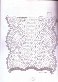 2° parte do gráfico caminho de mesa em croche vermelho