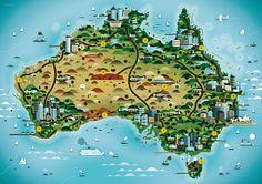 Australia map • big things Australia tour
