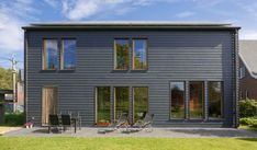 Cladding for beautiful houses. Easy to install, easy to maintain. Steel Cladding, Cedar Cladding, House Cladding, Cedral Weatherboard, Cargo Container Homes, Contemporary Barn, 1950s House, Timber House, Black House