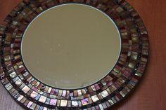 Metalic Mosaic Mirror by hawortherin, via Flickr
