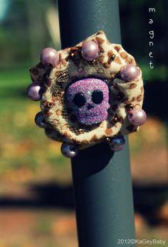 Halloween Magnet by KaGeyWonderworks on Etsy, $3.00