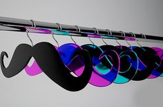 Mustache hangers! in love.