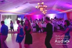 Fourth Estate Audio created a virtual explosion of color, sound and motion. Your wedding can look like this. Contact our Chicago wedding DJ experts at (630) 654-4440.