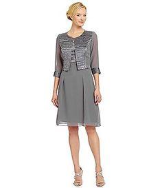 Le Bos Textured 2-Piece Jacket Dress