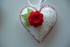 Felt Heart. This one is incredibly beautiful and romantic!
