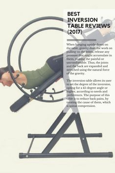 Best Inversion Table Reviews (2017) & All You Need to Know When Buying http://abmachinesguide.com/best-inversion-tables-reviews/ #health #exercise