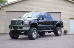 Black Lifted Ford F-250 Truck