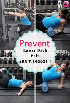 Stop low back pain during pregnancy with this abs and core pregnancy workout. http://michellemariefit.com/prevent-lower-back-pain-pregnancy-workout/