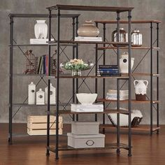 TRIBECCA HOME Myra Vintage Industrial Modern Rustic 40-inch Bookcase | Overstock.com Shopping - The Best Deals on Media/Bookshelves