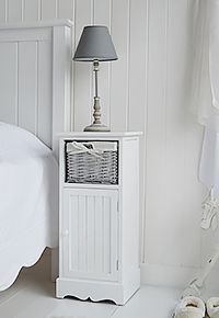 White Bedside Cabinet With Three Drawers Beautiful Bedrooms