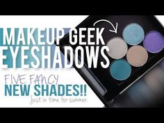 5 NEW Makeup Geek Eyeshadows (Summer 2014)