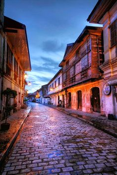 Vigan, Philippines (this picture is the part of the of the city that's actually worth seeing) Philippines Vacation, Philippines Culture, Philippines Cities, Manila Philippines, Places To See, Places To Travel, Travel Destinations, Vigan Philippines, Philippine Holidays