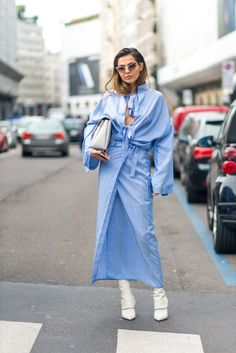 60 + photos of the best street style spotted at Milan Fashion Week for all your fall outfit ideas: