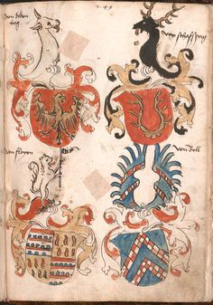 Wernigeroder (Schaffhausensches) Wappenbuch Süddeutschland, 4. Viertel 15. Jh. Cod.icon. 308 n  Folio 249r