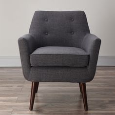Clyde Grey Linen Chair | Overstock.com Shopping - The Best Deals on Chairs