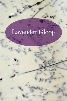 Lavender Gloop. To make the gloop simply mix cornflour and water, makes an amazing texture. Great for mark making. Above lavender has been added for additional sensory experience .