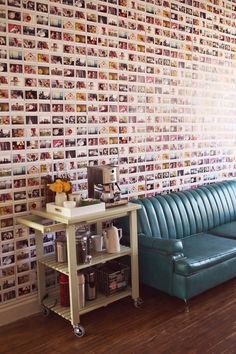 Why buy wallpaper when you can just use your photo collection? | 31 Incredibly Creative Ways To Display All Your Stuff