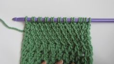 Slanted Fabric Tunisian Stitch 12 different stitches