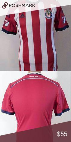 Adidas Club Deportivo Chivas USA Mens Authenti NWT Adidas Club Deportivo Chivas USA Mens Authentic S/S Jersey size M Red/Blue $110 Adidas Shirts