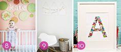 Roundup: 10 Easy DIY Nursery Wall Art Ideas » Curbly | DIY Design Community