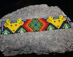 Pulsera de perlas de venado Huichol HH