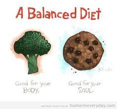 balanced diet | Humor In Everyday