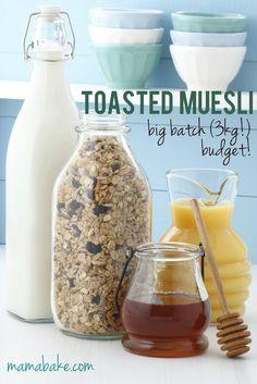 Big Batch Toasted Muesli Recipe