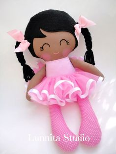 Ballerina doll Handmade cloth dollGirl by lunnitastudio on Etsy