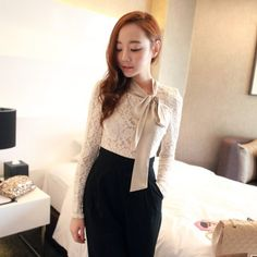 """@cs.ordersis's photo: """"Long Sleeve : RY2604 WHITE """"Original : china Brand : R.Jstory Fabric : Lace elastic : strong Belt : None  Length: 60cm Bust: 80cm can stretch to: 100cm Waist: 66cm can stretch to: 86cm zipper : yes, with zipper at back Shoulder: 31cm Sleeve: 61cm Cuff: 19cm (tile size error of 2-4 cm is normal ) 260grams"""" Rp158,000  #tops #blouse #longsleeve #ordersis"""""""