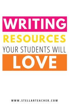 Resources My Students LOVE Using During Writer's Workshop — The Stellar Teacher Co. Writing Resources, Teaching Writing, Writing Activities, Writer Workshop, Homeschool Curriculum, Upper Elementary, Interactive Notebooks, Teacher, Students