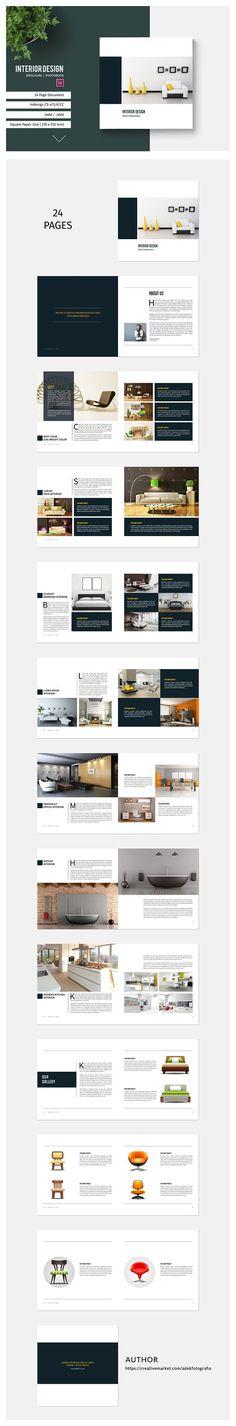 Square Brochure Catalog by adekfotografia on @creativemarket